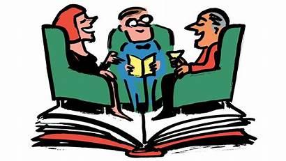 Club Clipart Novel Talking Read Reads Npr