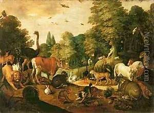Garden of Eden oil painting reproduction by Jacob Bouttats ...