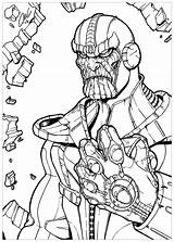 Thanos Coloring Infinity Pages Gauntlet Printable Marvel Line Drawing Cute Boys Avengers War Print Drawings Super Deviantart Mycoloring Fan Categories sketch template