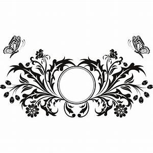 Butterfly design floral circle wall art sticker transfers