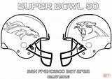 Broncos Denver Drawing Coloring Bowl Panthers Super Carolina Vs sketch template