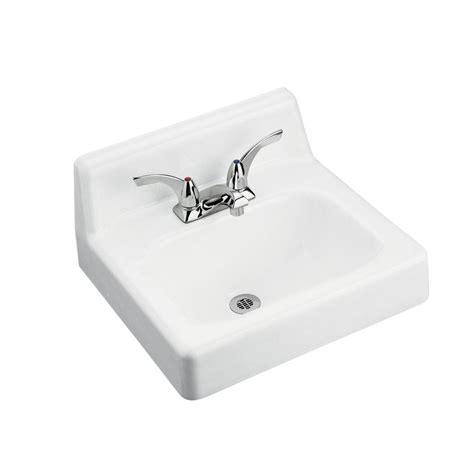 Kohler Hudson Wallmount Cast Iron Bathroom Sink In White