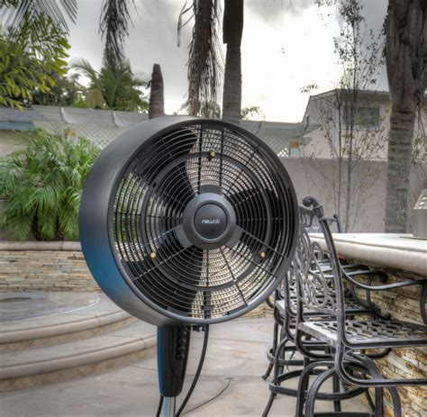 mist fan outdoor amazon com newair af 520b oscillating outdoor misting fan