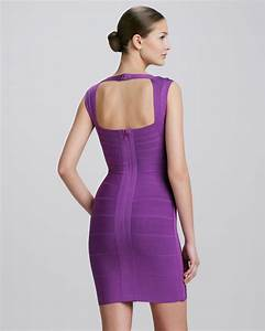 herve leger crisscross openback bandage dress bright With herve leger robe bandage