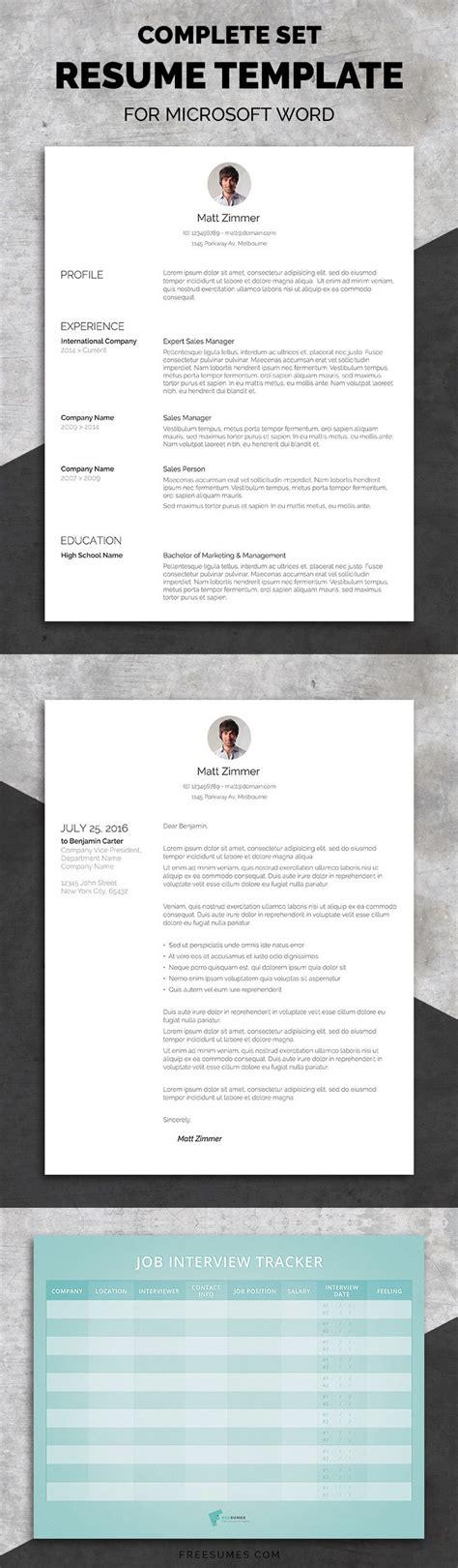 Set Resume Template by Professional Resume Template Set Cv Resume Design