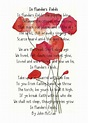 """""""In Flanders Fields"""" image by Emily Beale; poem by John ..."""