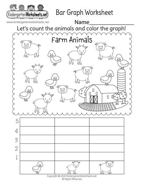 farm animals bar graph worksheet  kindergarten