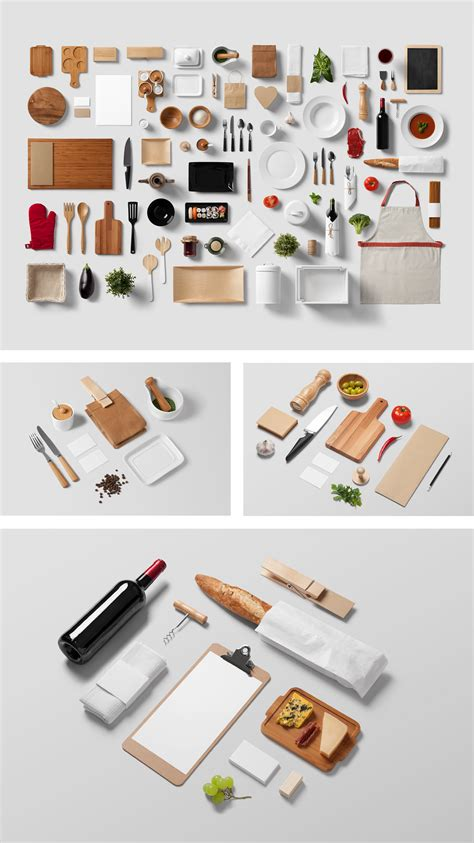 Collection of menu mockups that can help you create different high quality restaurant scenes. Restaurant Food Mock-Up | PSD Templates | forgraphic™