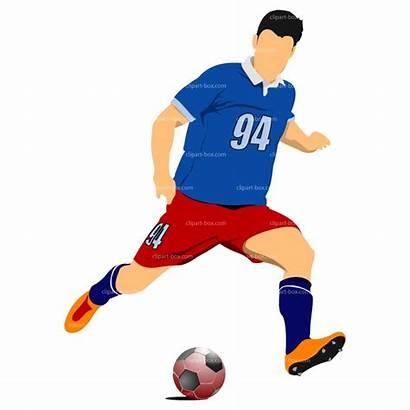 Soccer Football Clip Player Clipart Ball Players