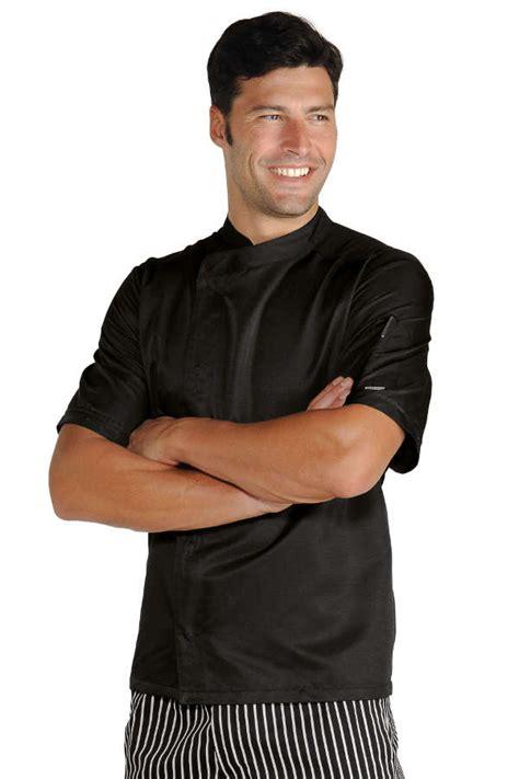 tenue de cuisine pas cher veste de cuisinier malaga noir microfibres