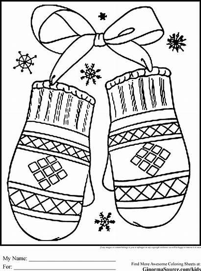 Winter Coloring Pages Season Preschool Printable Sheets
