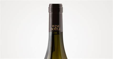 psd white wine bottle mockup psd mock  templates pixeden