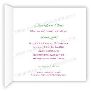 80 ans de mariage invitation 40 ans de mariage mon petitmonde