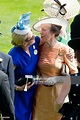 Zara Phillips greets her mother, Princess Anne, Princess ...