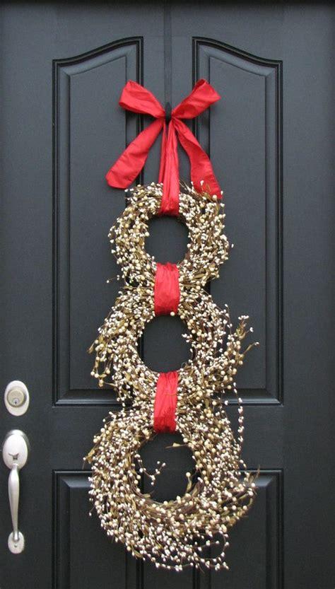 wreath snowman  christmas original front