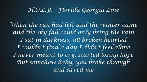 Florida Georgia Line Lyrics