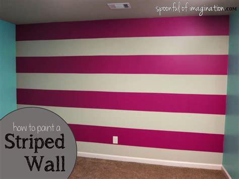 Wand Streichen Mit Streifen by Diy Wall Stripes Spoonful Of Imagination
