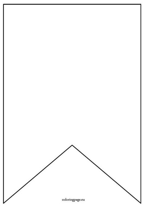 flag banner template coloring page diy  crafts