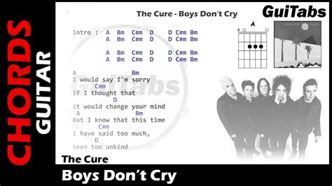 Boys Don't Cry ( Lyrics And Guitar Chords