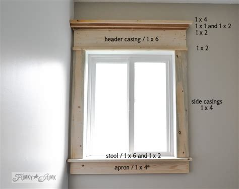 how to make a farmhouse window with mouldingfunky junk interiors