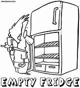 Fridge Refrigerator Open Coloring Drawing Pages Getdrawings Stuff sketch template
