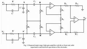Shows The Circuit Schematic Of The High Gain Amplifier