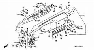 Exhaust Muffler For 1993 Honda Z50