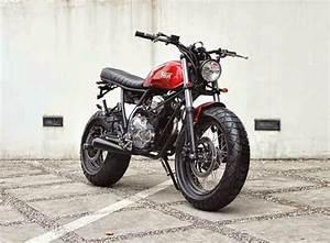 Modifikasi Yamaha Scorpio  The Red Tracker