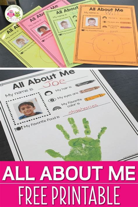 all about me preschool activity preschool themes 979 | ddfc21f81461edab8f4876618016121c