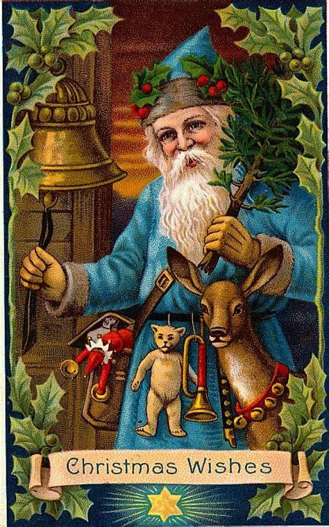 victorian santa claus images  retrographik