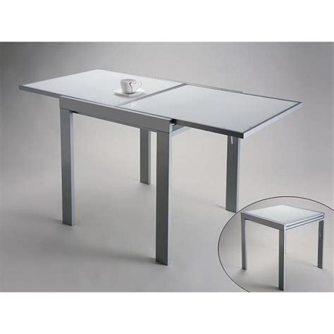 table cuisine extensible table design extensible versa en verre blanc achat