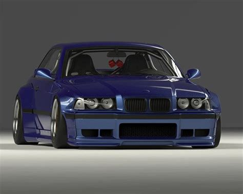 17090213 pandem frp wide front fenders bmw e36 325i coupe
