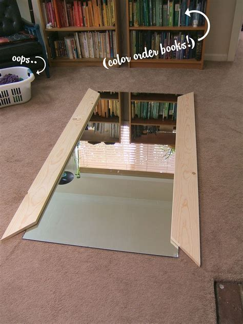 floor mirror diy this step is kind of just a double check but it s a good idea after placing your sides on the