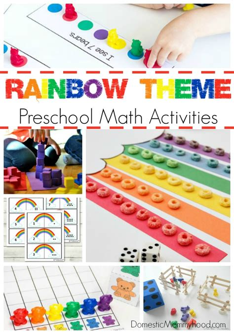 rainbow theme preschool math activities domestic mommyhood 951 | Rainbow Theme Preschool Math Activities
