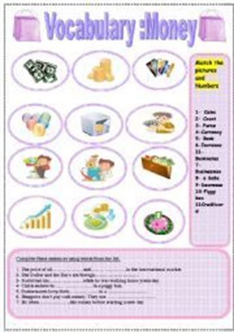 worksheet money vocabulary money