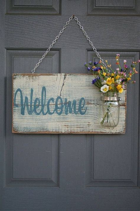 welcome home interiors pallet wood welcome decor craft crafting ideas