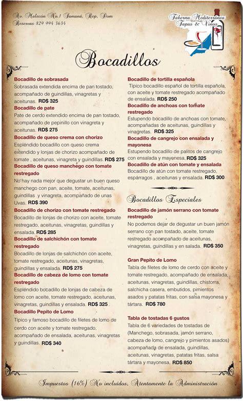 cuisine en g taberna mediterranea bar et restaurant ville de samana