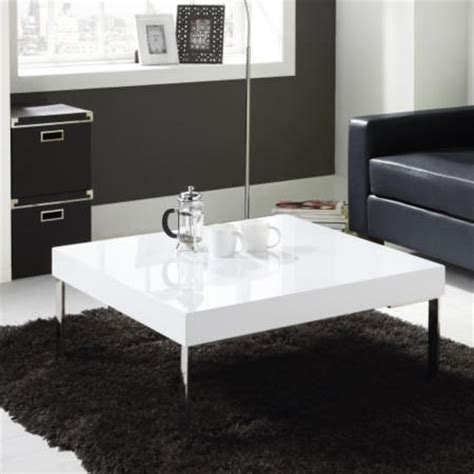 large white coffee table tiffany white high gloss square coffee table furniture123