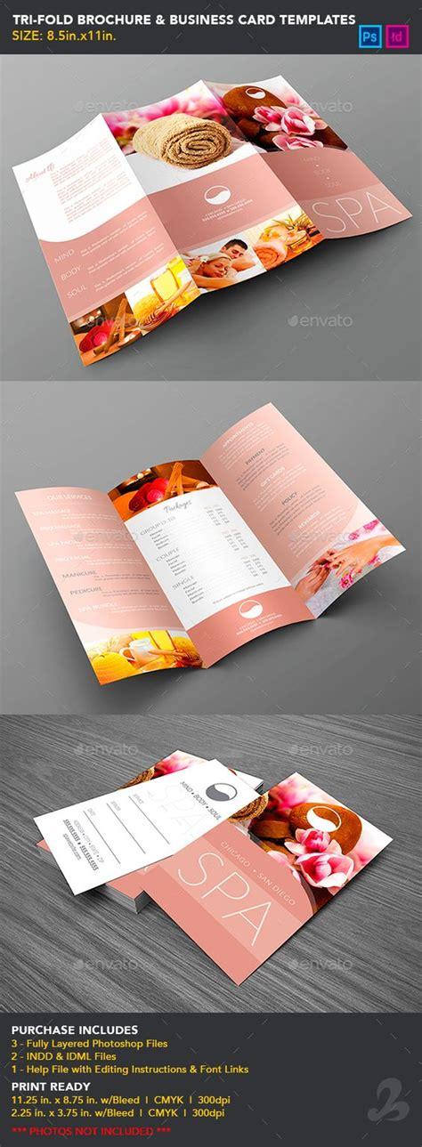 tri fold business cards template tri fold brochure business card templates spa cards