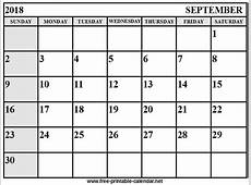 September Calendar 2018 Download & Print Calendars from