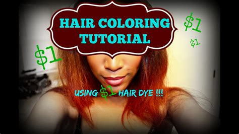 fall hair color tutorial  dollar store hair dye