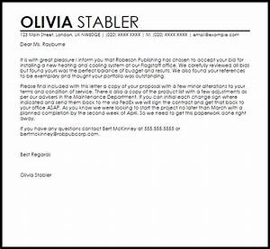 new service announcement template - bid acceptance letter example letter samples templates
