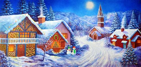 time christmas village scenic stage backdrop rental