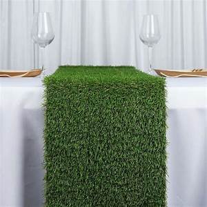 12x108quot Artificial Grass Table Runner Tablecloths