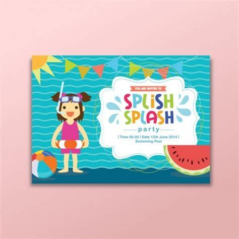 beautiful beach party invitation designs psd eps