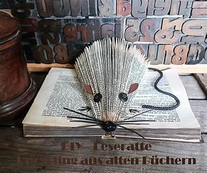 Aus Büchern Falten : diy 3d leseratte aus einem alten buch liebseeligkeiten ~ Bigdaddyawards.com Haus und Dekorationen