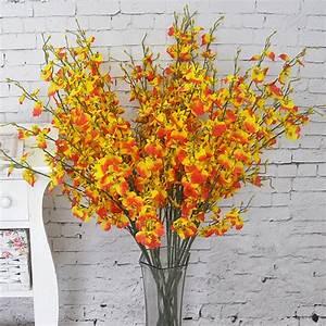 Flowers Oncidium 94cm37quot Length 10Pcslot Artificial
