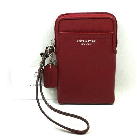 coach legacy leather universal wristlet iphone 5 4