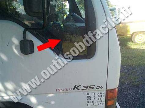 on board diagnostic system 2001 isuzu trooper seat position control obd2 connector location in isuzu k35 2003 2006 outils obd facile