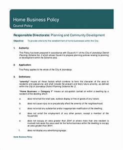 Business policy template 9 free pdf documents download for Company policies and procedures template free